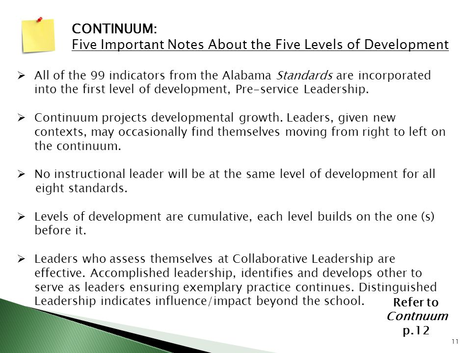 Five Important Notes About the Five Levels of Development
