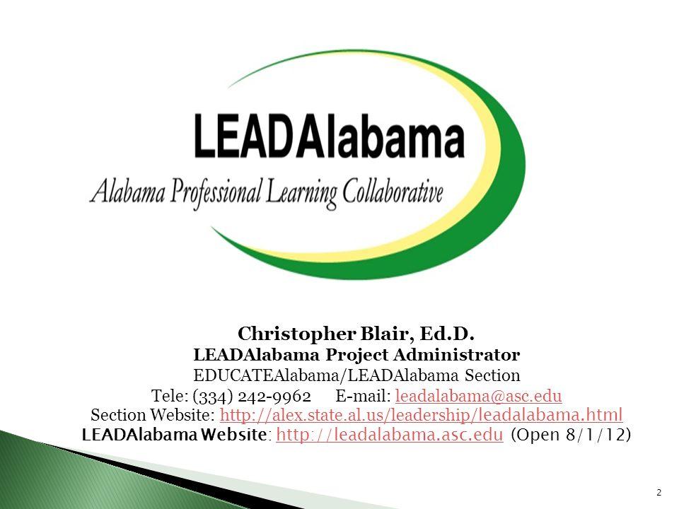 LEADAlabama Project Administrator