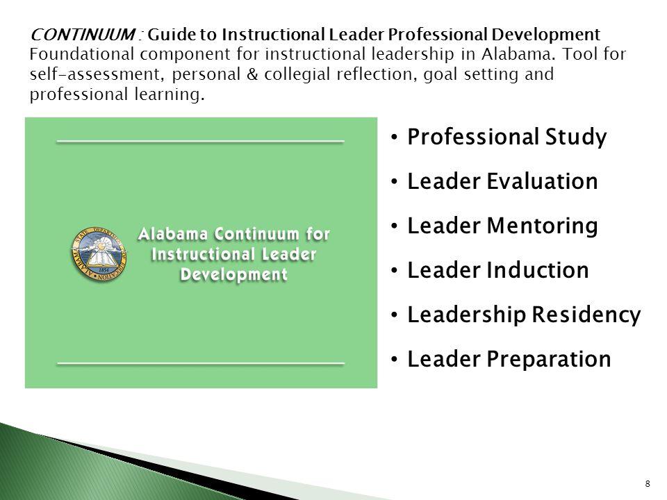 Professional Study Leader Evaluation Leader Mentoring Leader Induction