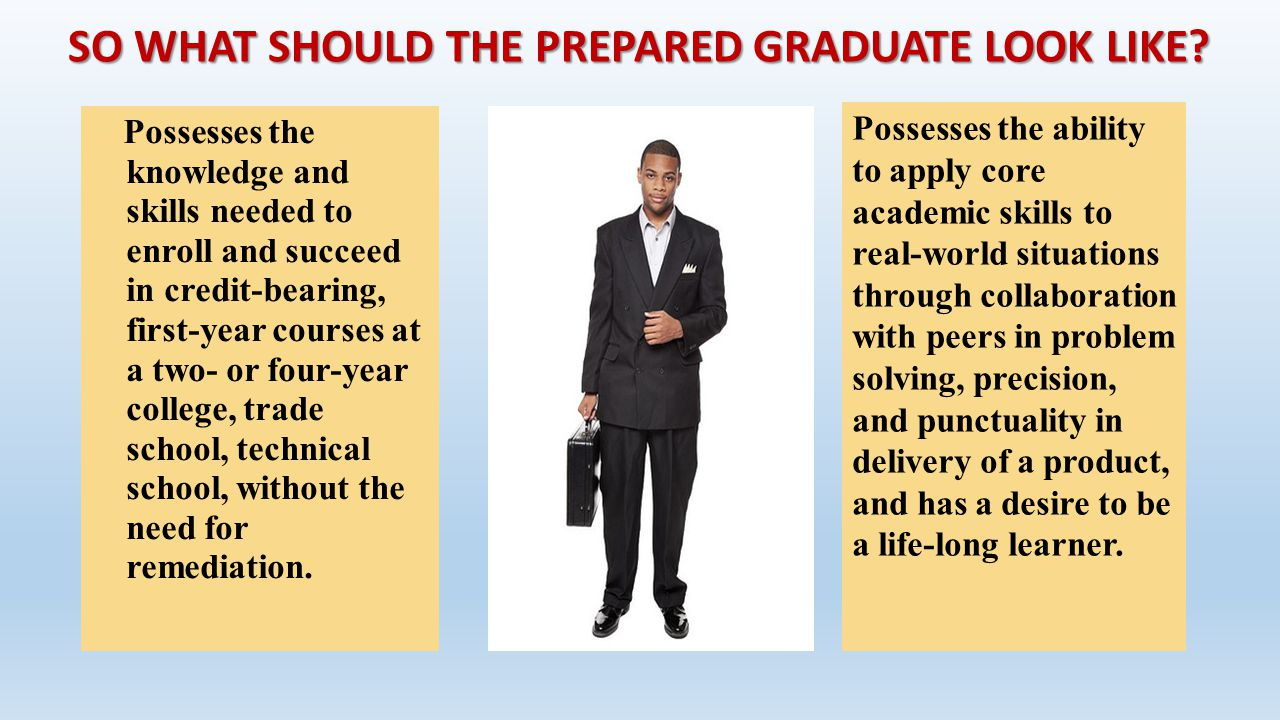 SO WHAT SHOULD THE PREPARED GRADUATE LOOK LIKE