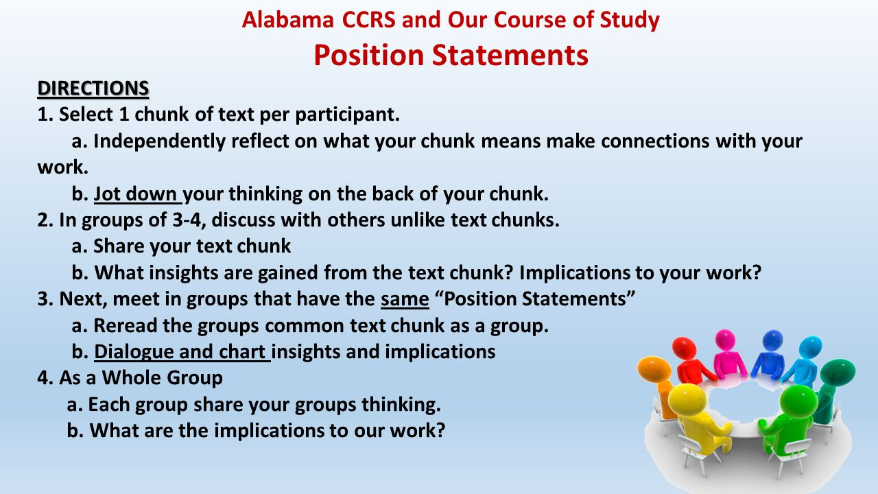 Alabama CCRS and Our Course of Study