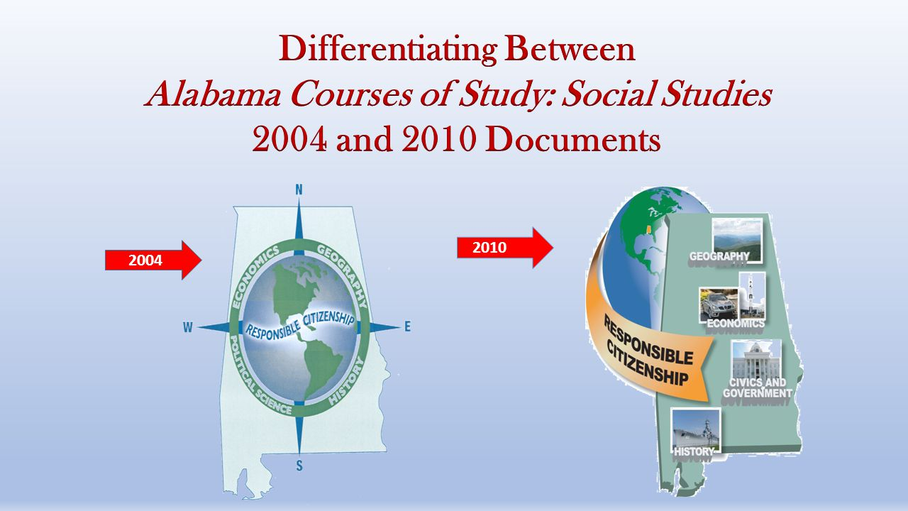Differentiating Between Alabama Courses of Study: Social Studies