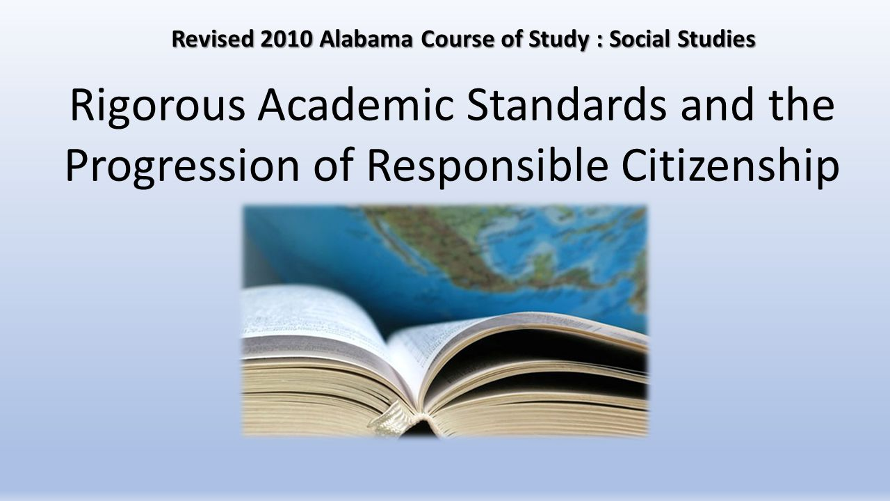Revised 2010 Alabama Course of Study : Social Studies