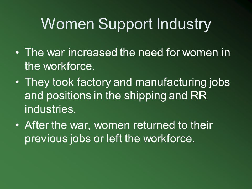 Women Support Industry