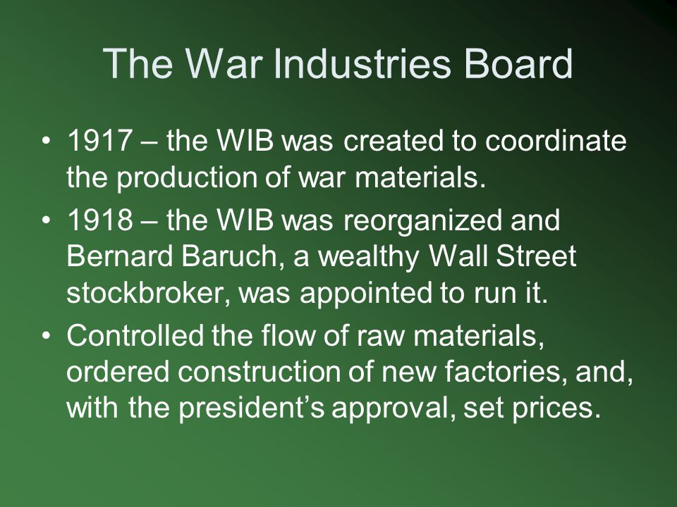 The War Industries Board