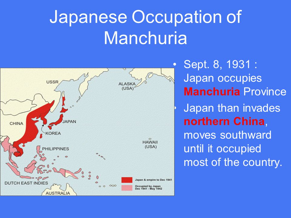Japanese Occupation of Manchuria