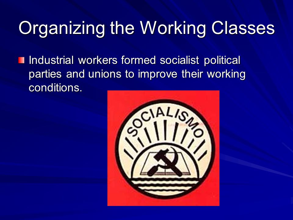 Organizing the Working Classes