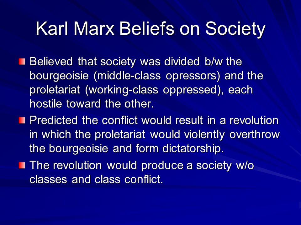 Karl Marx Beliefs on Society