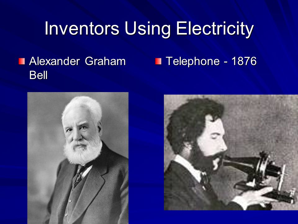 Inventors Using Electricity