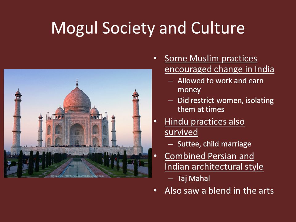 Mogul Society and Culture