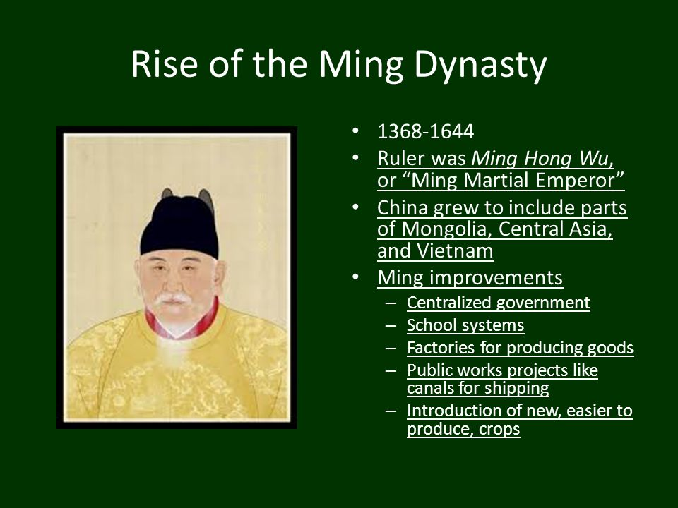 Rise of the Ming Dynasty