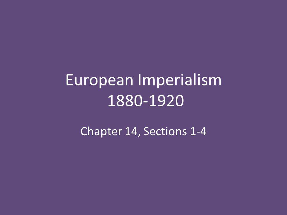 European Imperialism 1880-1920
