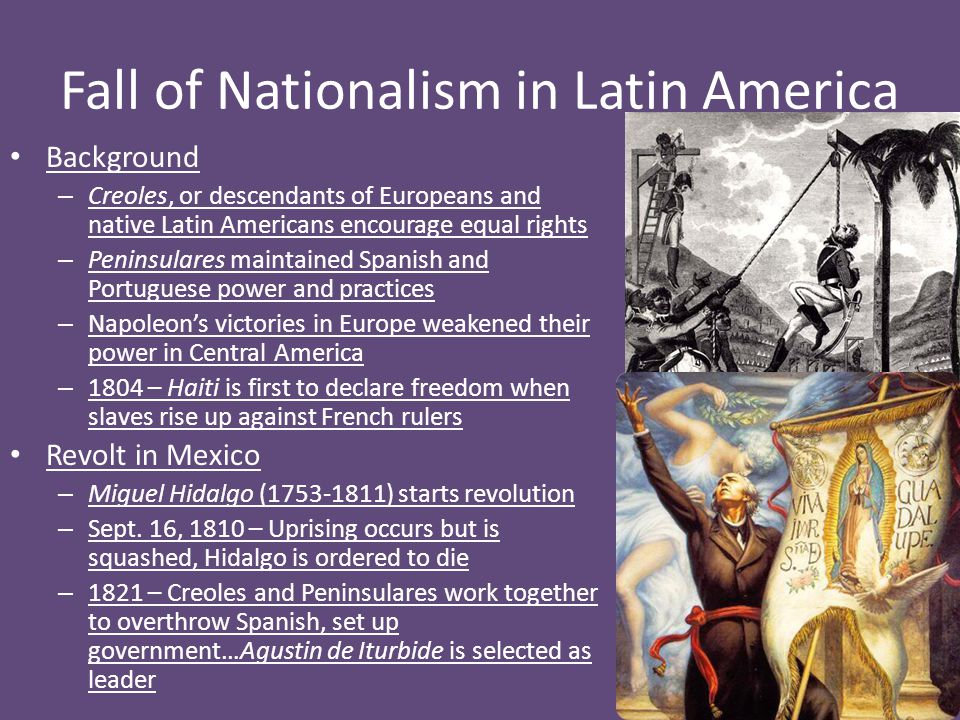 Fall of Nationalism in Latin America
