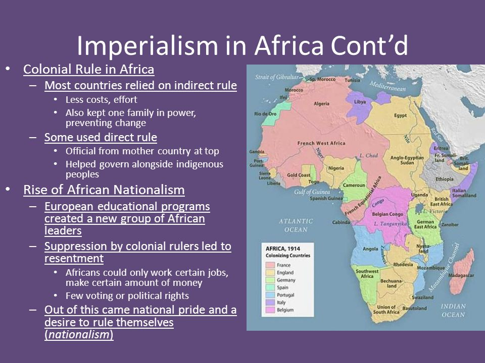 Imperialism in Africa Cont'd