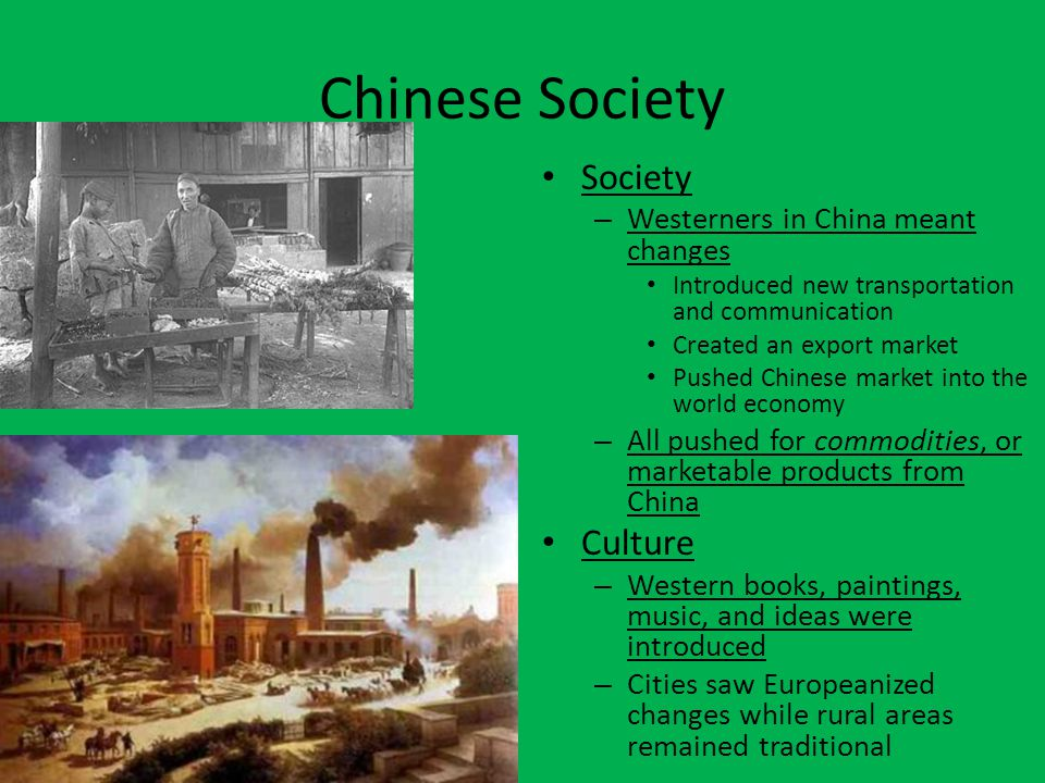Chinese Society Society Culture Westerners in China meant changes