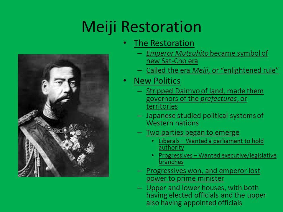 Meiji Restoration The Restoration New Politics