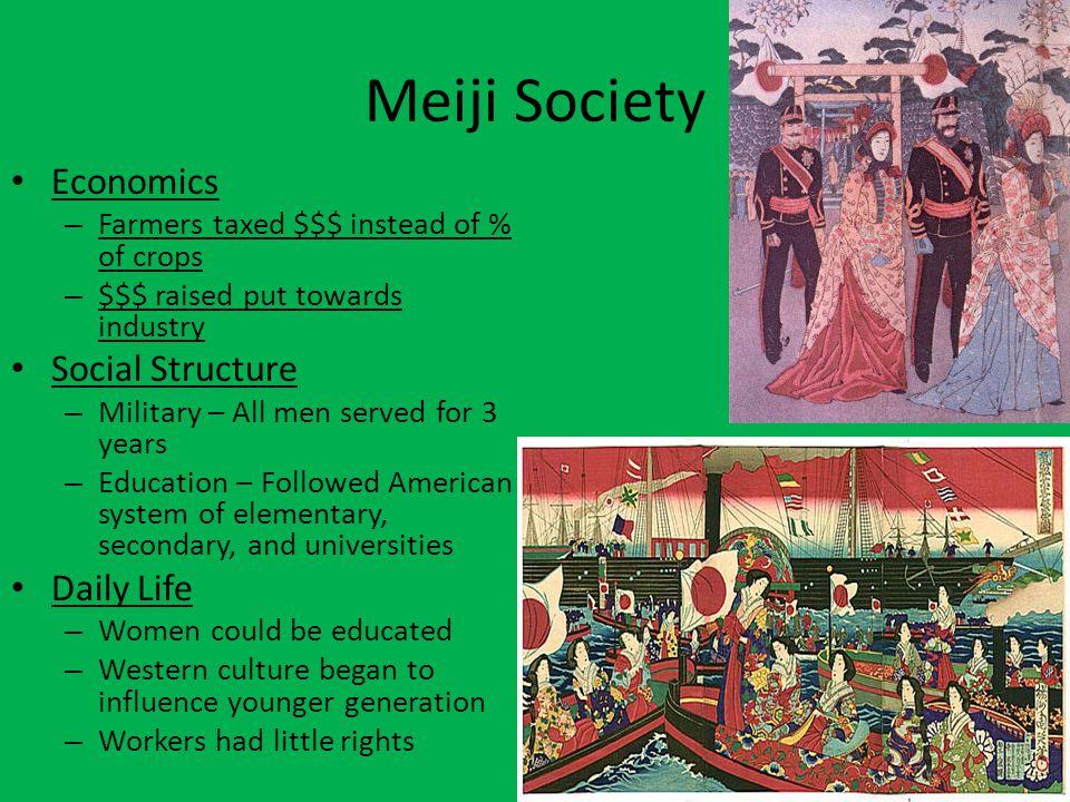 Meiji Society Economics Social Structure Daily Life