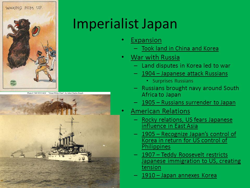 Imperialist Japan Expansion War with Russia American Relations