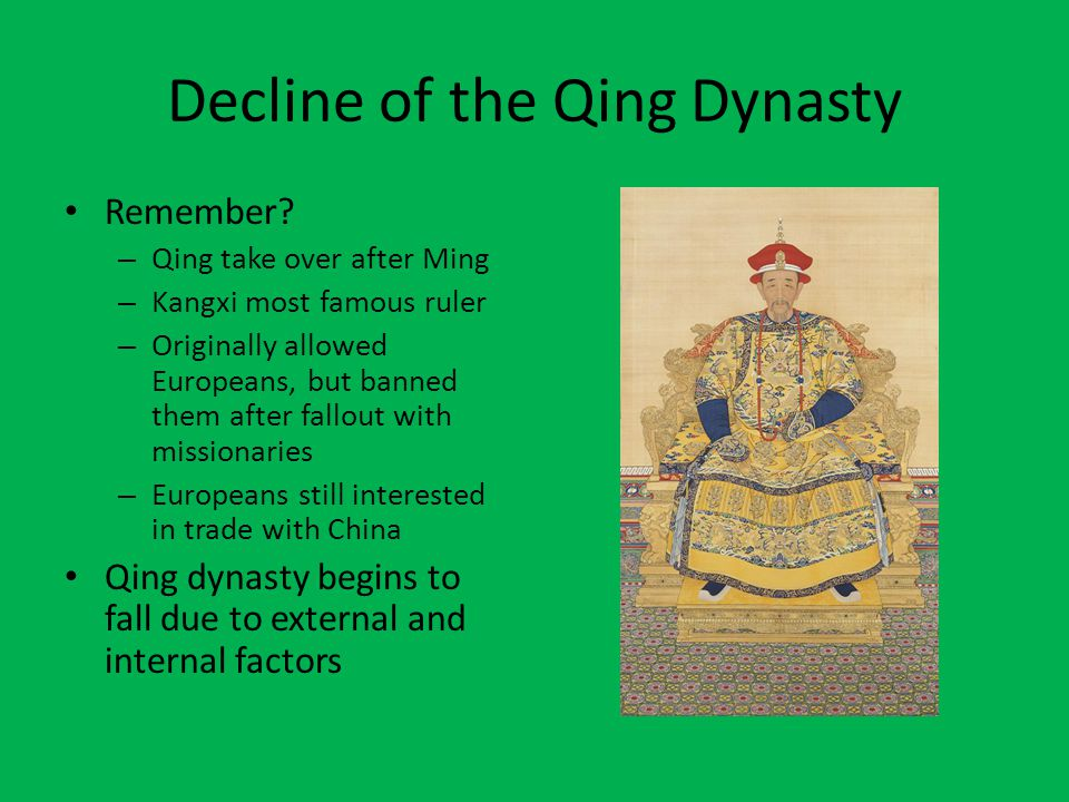 Decline of the Qing Dynasty