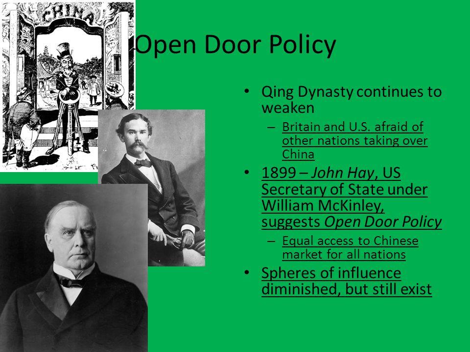 Open Door Policy Qing Dynasty continues to weaken