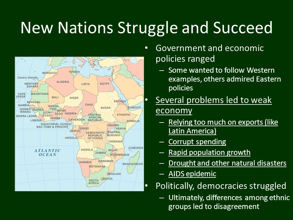 New Nations Struggle and Succeed