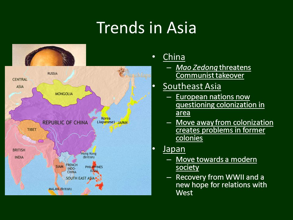 Trends in Asia China Southeast Asia Japan