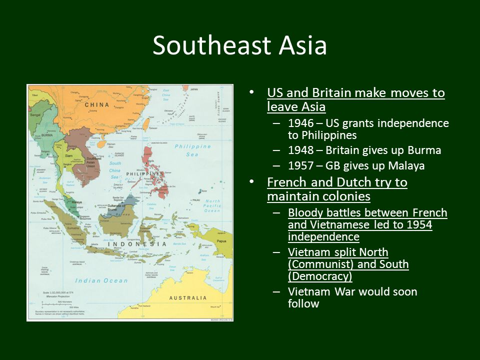 Southeast Asia US and Britain make moves to leave Asia