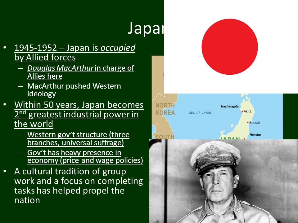 Japan 1945-1952 – Japan is occupied by Allied forces
