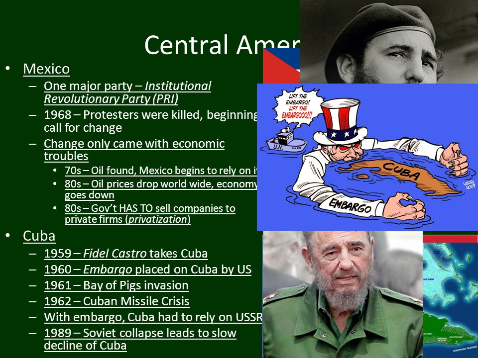 Central America Mexico Cuba