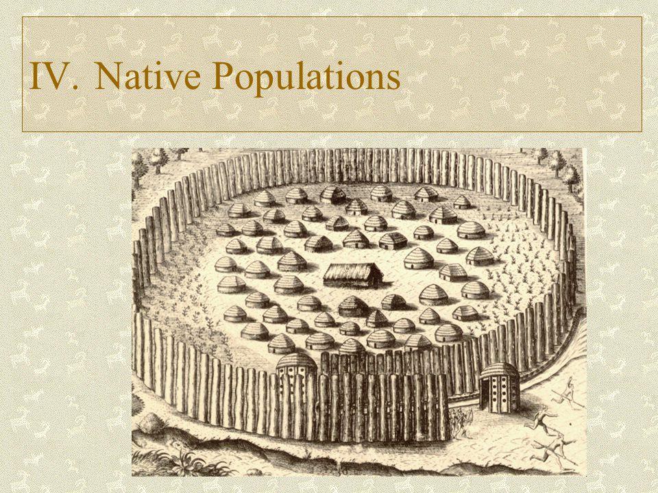 IV. Native Populations