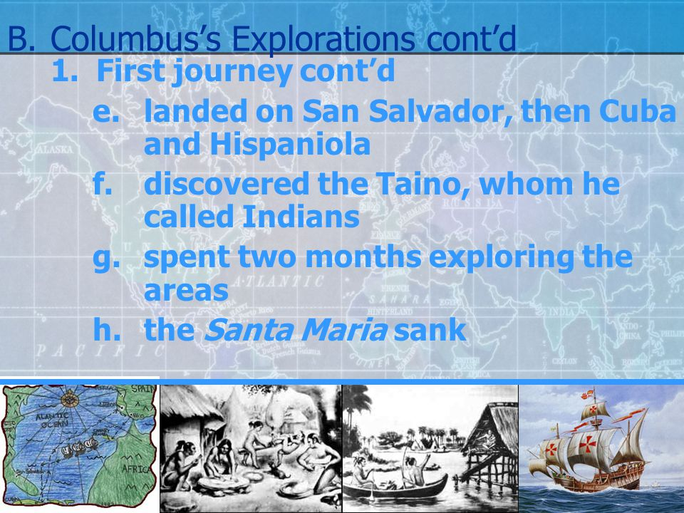 B. Columbus's Explorations cont'd