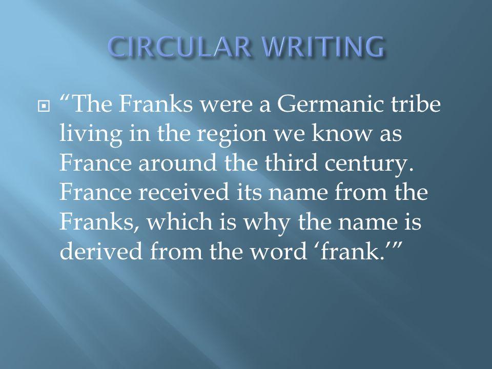 CIRCULAR WRITING