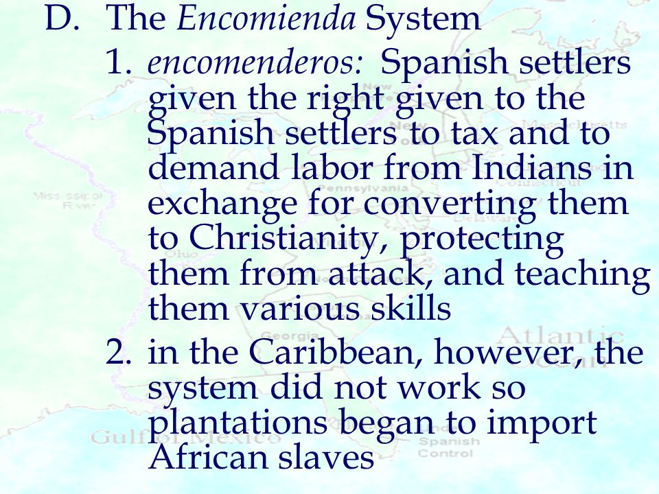 encomienda system in the caribbean Read this essay on encomienda system firstly the exploitation of the caribbean with reference to the encomienda labor system.