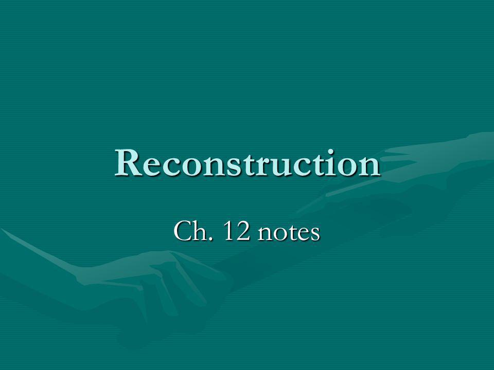 Reconstruction Ch. 12 notes