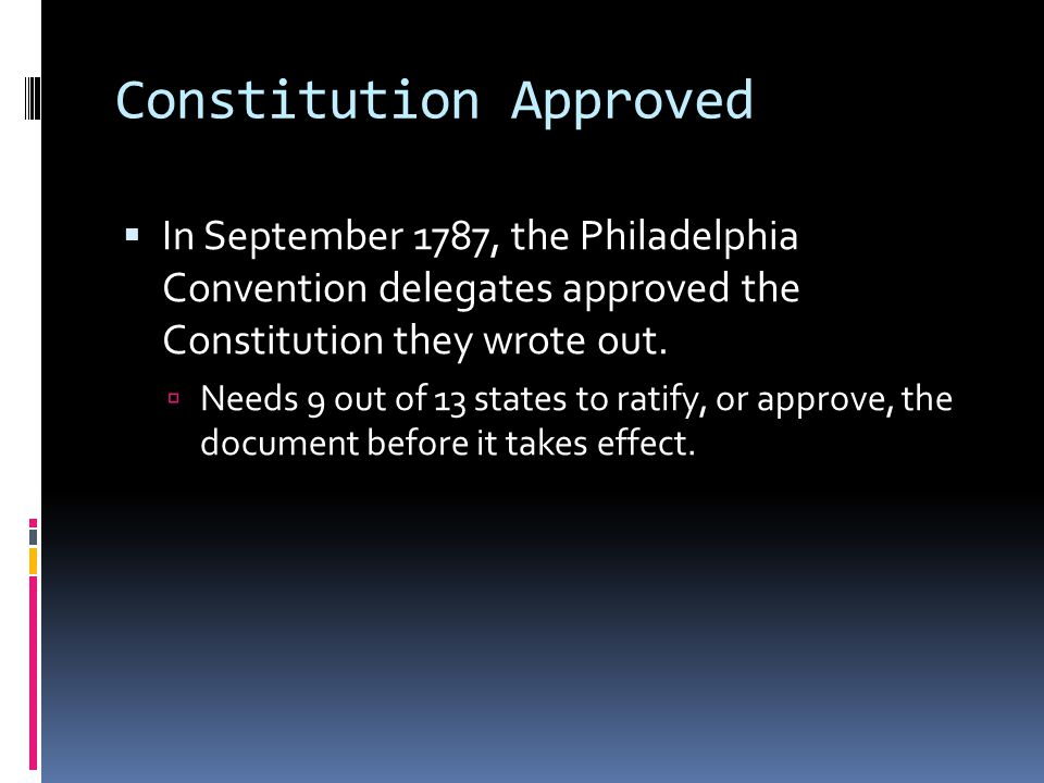 Constitution Approved
