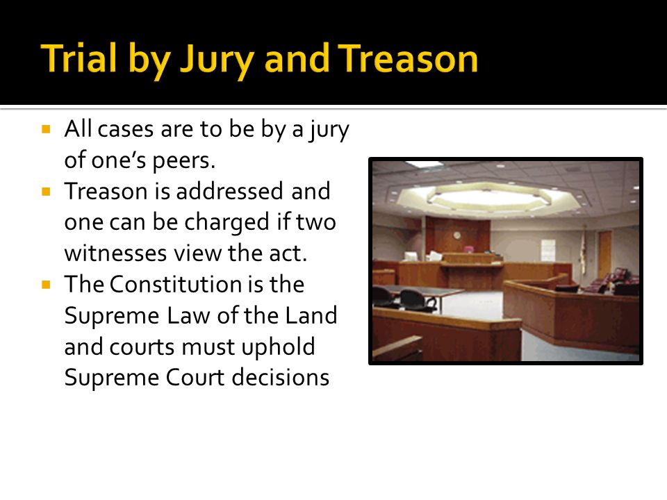 Trial by Jury and Treason