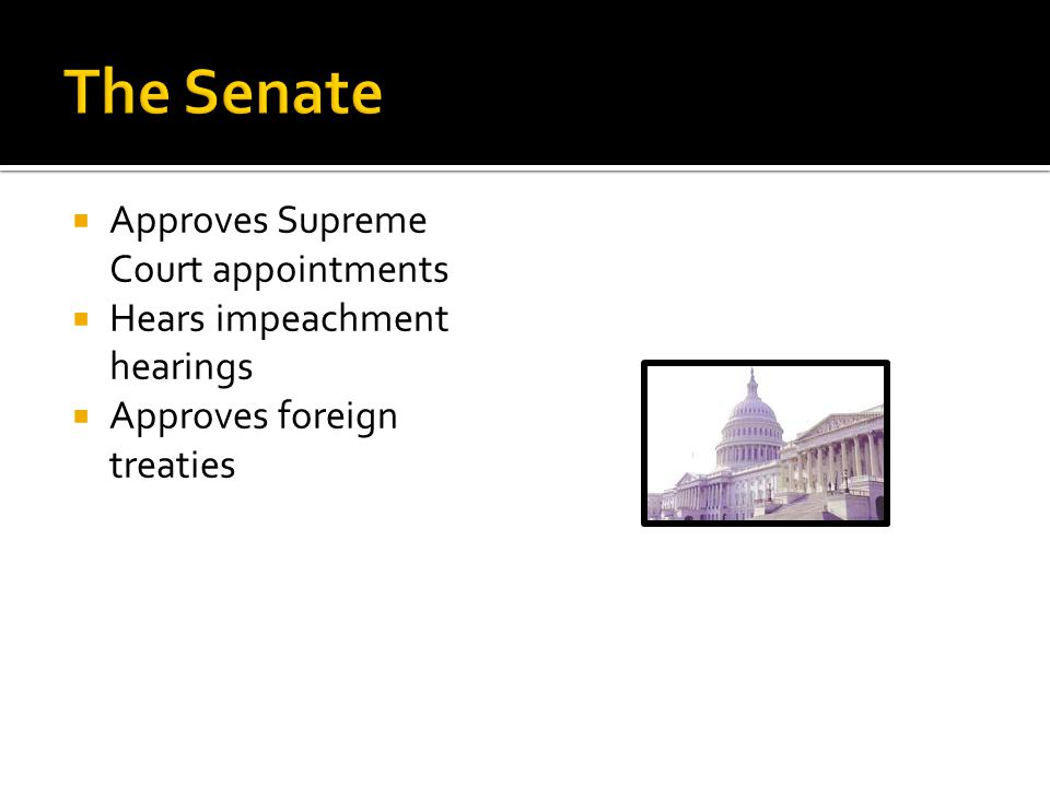 The Senate Approves Supreme Court appointments