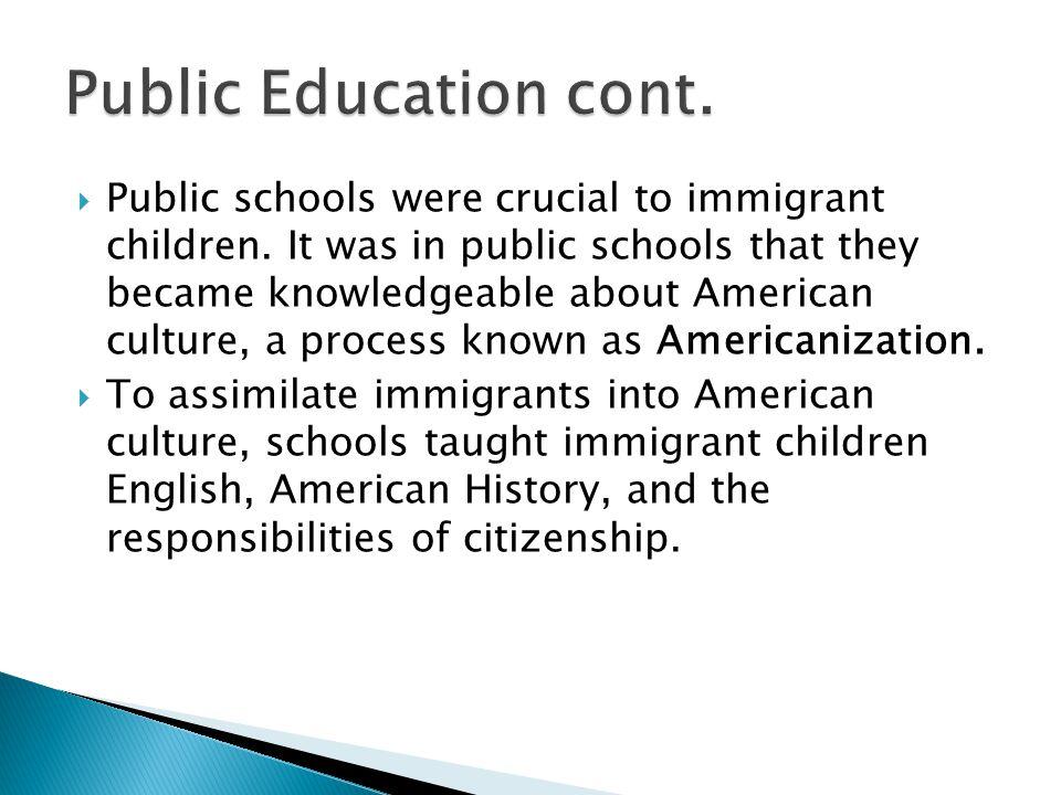 Public Education cont.