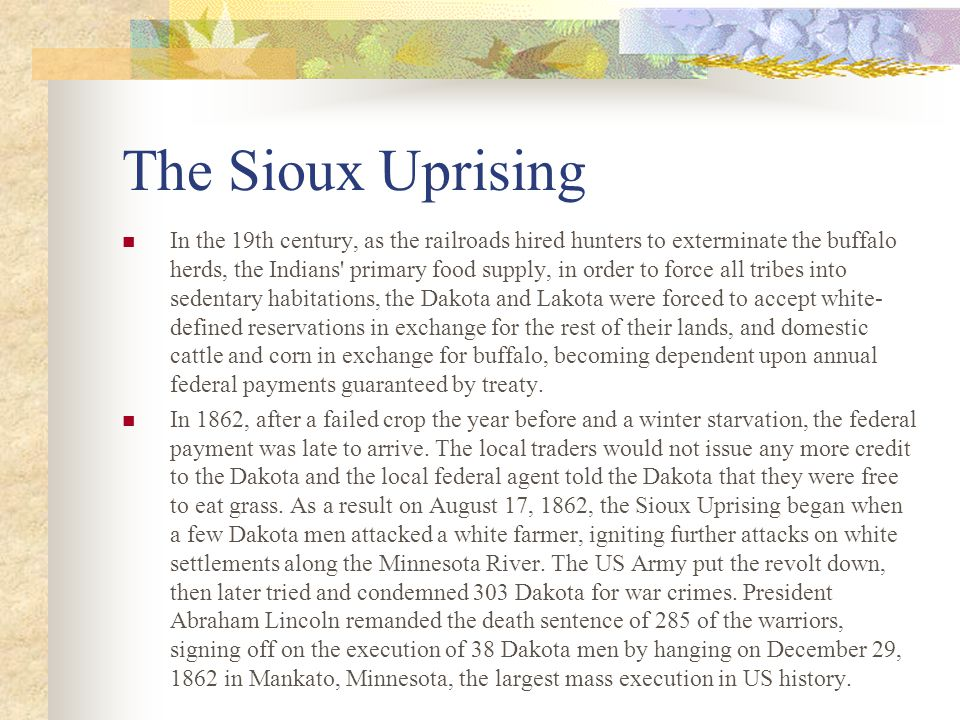 The Sioux Uprising