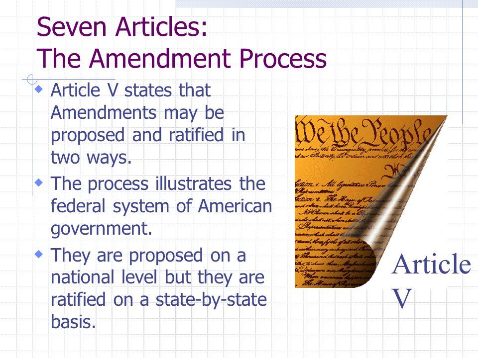 Seven Articles: The Amendment Process