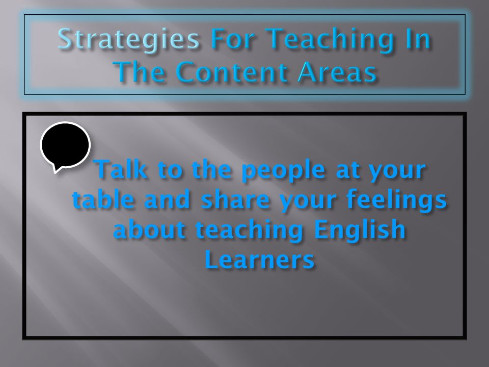Strategies For Teaching In The Content Areas
