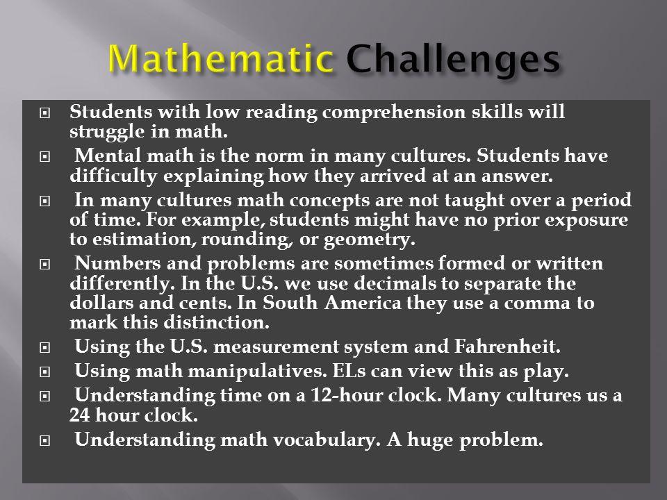 Mathematic Challenges
