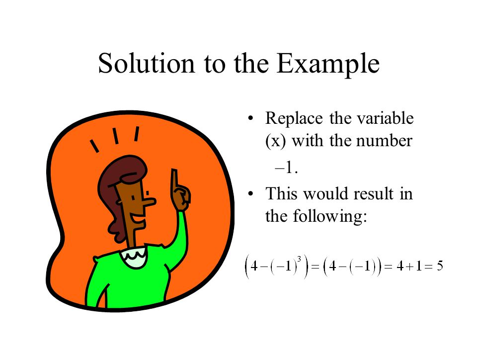 Solution to the Example