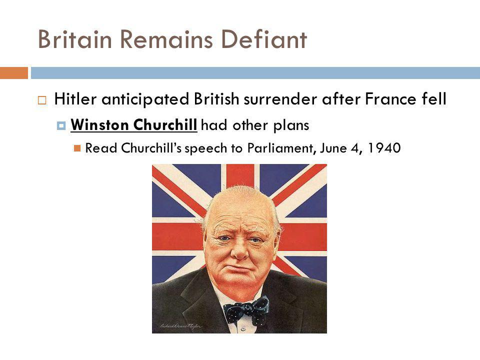 Britain Remains Defiant