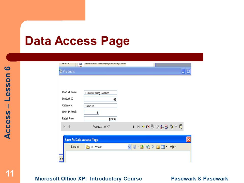 Data Access Page