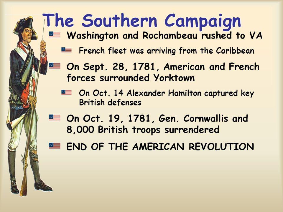The Southern Campaign Washington and Rochambeau rushed to VA
