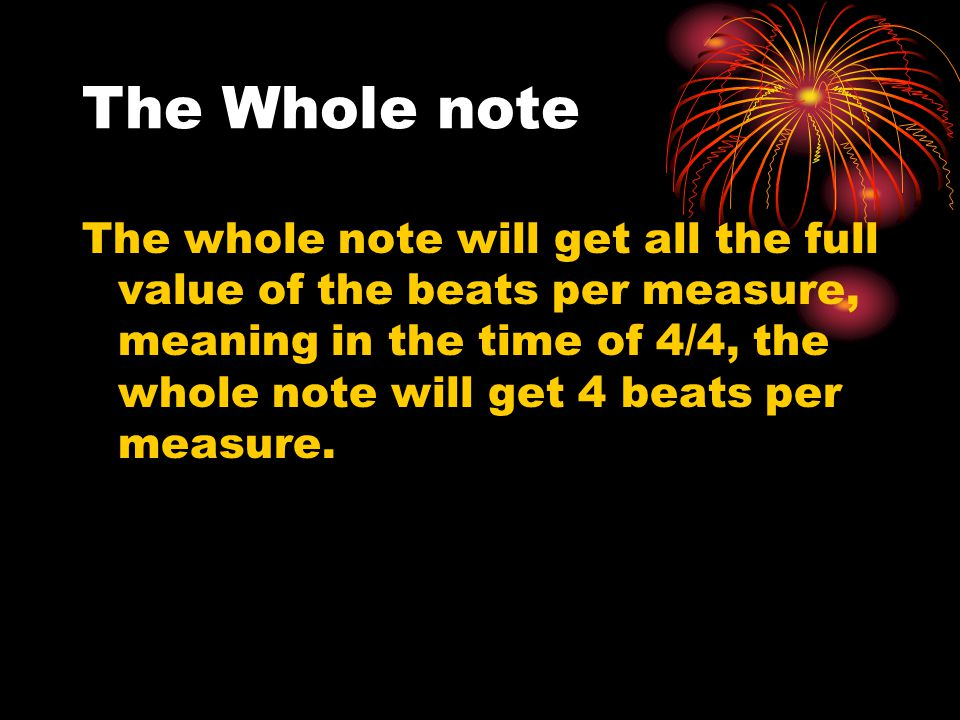 The Whole note