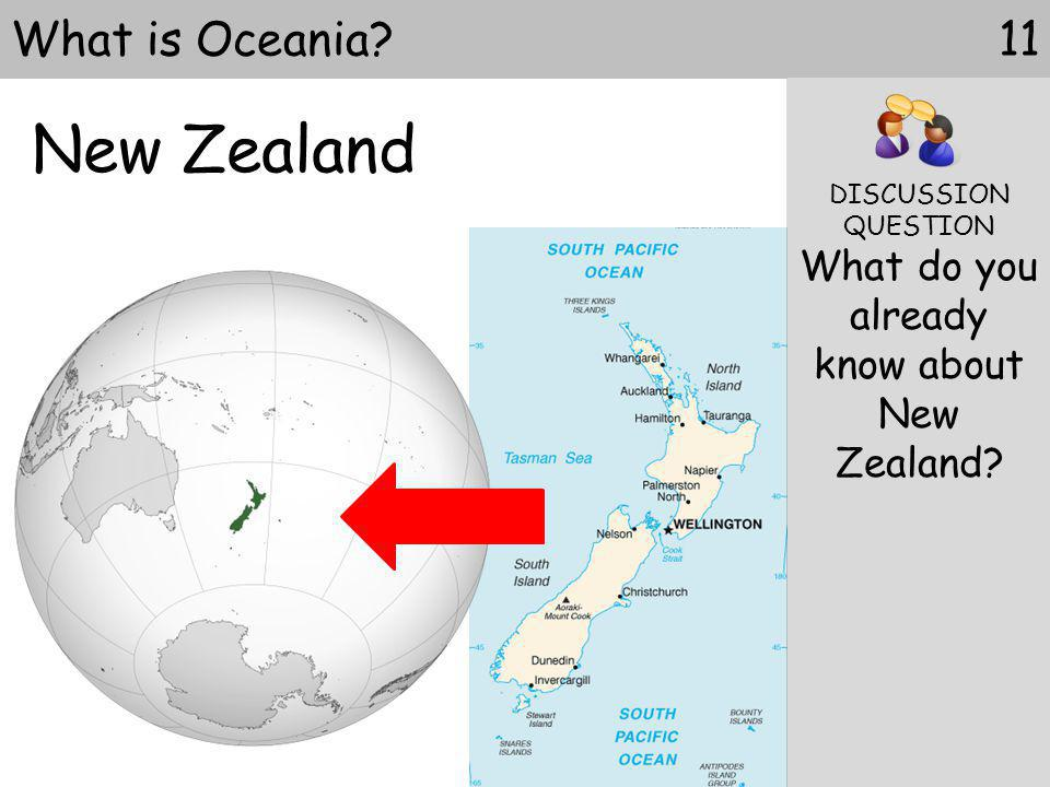 What do you already know about New Zealand