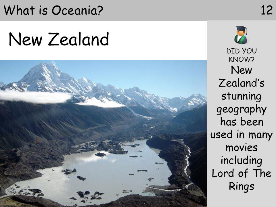 New Zealand What is Oceania