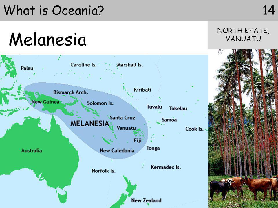 Melanesia What is Oceania NORTH EFATE, VANUATU